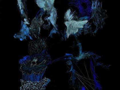 6 polyptiques sur fond noir
